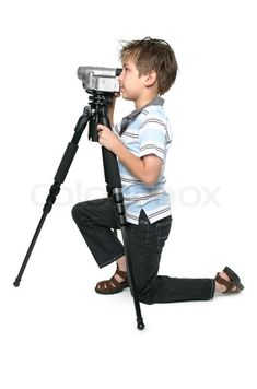 Stock image of 'Using a tripod will give you a nice steady video capture'