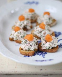 Skagen is an area in Sweden so the toasts are named after it. It is usually chopped shrimps with mayonnaise and caviar, perhaps some dill. Swedish Cuisine, Norwegian Food, Scandinavian Food, Good Food, Yummy Food, Swedish Recipes, Easter Recipes, Food Inspiration, Bakery