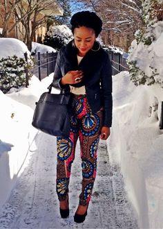 Ankara pants. Love this outfit