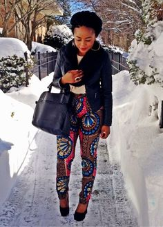 Ankara pants. Love this outfit