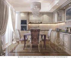 3D дизайн интерьера кухни в квартире (ар-деко) - http://www.ok-interiordesign.ru/ph17_kitchen_interior_design.php