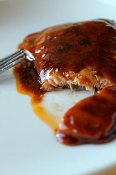 This Maple BBQ Glazed Salmon from Averie Cooks is HEAVEN on earth... and easy to boot!