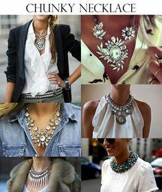 Fashion - Refresh Your Look On A Budget – Fashion Fashion Mag, Budget Fashion, Fashion Outfits, Womens Fashion, Fashion Tips, Star Fashion, Statement Necklace Outfit, Fashion Necklace, Statement Necklaces