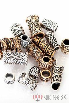 viking beard beads hair beads skäggpärlor - Home Viking Braids, Viking Hair, Loc Jewelry, Viking Jewelry, Jewellery, Dreads, Vikings, Beard Beads, Hair Beads