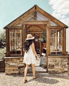 Our Trip To Magnolia Market Backyard Greenhouse, Greenhouse Plans, Greenhouse Wedding, Silo House, Magnolia Market, She Sheds, Glass House, Dream Garden, How To Plan