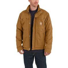 69007c5113 Carhartt Men s Small Brown Cotton Nylon FR Full Swing Quick Duck Coat