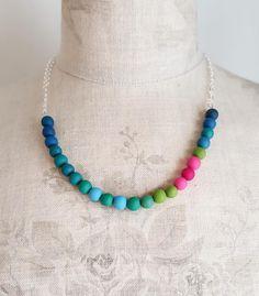 Polymer Clay Beads, Beaded Necklace, Colour, Jewellery, Instagram Posts, Fashion, Beaded Collar, Jewelery, Moda
