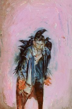 kent williams comics | The Crow #3 cover art by Kent Williams (Image Comics, 1999)