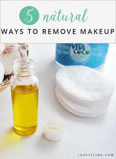 Did you know that you can use many of the natural ingredients in your kitchen to remove your makeup? Here are five natural ways to remove makeup: