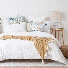 Celine White Quilt Cover Set | Pillow Talk Quilt Cover Sets, Quilt Sets, Ikea, Superking Bed, Wardrobe Room, Grey Quilt, Cushions, Pillows, Pillow Talk