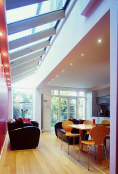 Kitchen extensions: UK kitchen extension design service from Architect Your Home Roof Design, Plan Design, House Design, Building Extension, Extension Ideas, Skylight Design, House Extensions, Kitchen Extensions, Home Fireplace