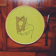 softporn - embroidery - clube do bordado - handmade - brazil - sensual   Embroidery and illustration: Vanessa Israel