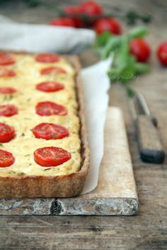 Quiche ricotta and cherry tomatoes | Sugarless