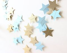 Twinkle Twinkle Little Star Garland Blue & by MailboxHappiness