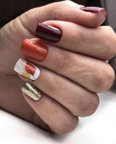 Fall Toe Nails, Cute Nails For Fall, Fall Acrylic Nails, Nail Colors For Fall, Nails For Autumn, Fall Nail Art Autumn, Shellac Nails Fall, Winter Nails, Summer Nails