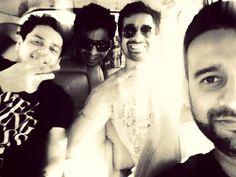 Richard de varda, siddharth atha, rannvijay Singh and vishal mahadkar after pack up of film shoot for 3AM