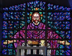 Buckfast Abbey in Devon England a brilliant stained glas window covers the entire back wall and is the work of one monks life's work, totally awesome and stunning