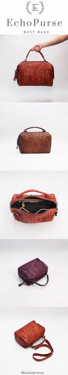 Top Grain Leather Crossbody Bags, Boston Bag, Women Purses Q127