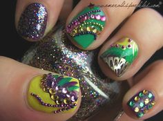 mardi gras nails!