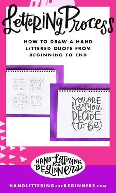 In this tutorial, we walk through every step of drawing a hand-lettered   sketch from start to finish.