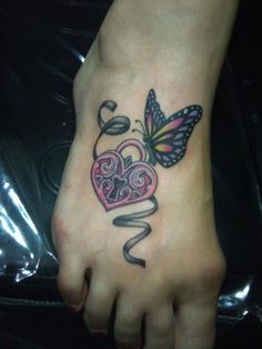 Foot Tattoo without the butterfly