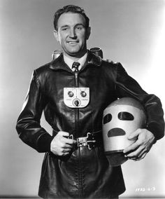 Actor George Wallace as Commando Cody in Republic's 1952 serial Radar Men from the Moon, wearing perhaps the definitive 1950s jetpack.