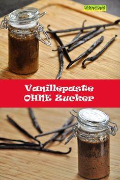 Diese Vanillepaste könnt ihr in 2 Minuten und mit nur 2 Zutaten ganz ohne Zucker selber machen. Die Low Carb  Vanillepaste ohne Zucker sollte wirklich in keinem Haushalt fehlen!