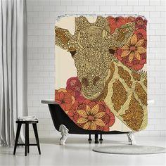 Valentina Ramos - Giraffe, Shower Curtain, 180x180