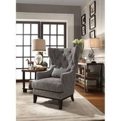 Darby Home Co Val Wingback Chair, Black