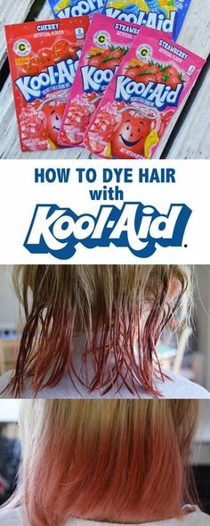 How to dye your hair with Kool-Aid! Have some fun this summer with the kiddos and pick out a fun hair color!