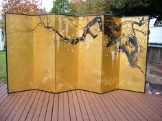 Japanese Byobu | Araki Kampo Meiji Era Japanese Six Panel Byobu Screen | eBay