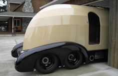Just a car guy : awesome COE streamliner rv built on a camper dual axle frame