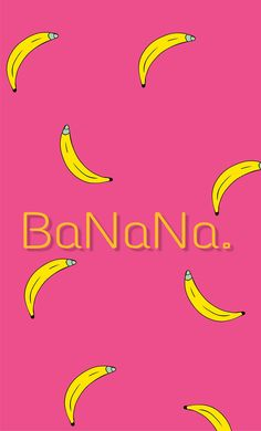 #banana #yellow #pink