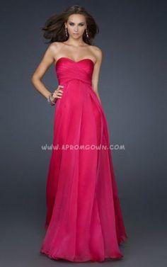 Fuchsia Long La Femme Strapless Evening Dress 17111 On Sale