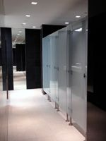 Compact Group - Glass Toilet Partitions and Cubicles