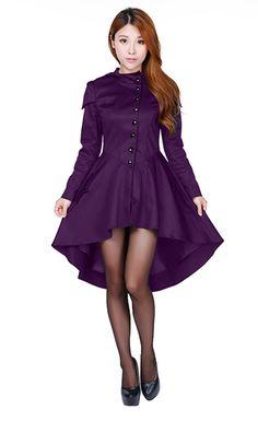 2c4e591e50a Chic Star Plus Size Purple Knee Length Corset Jacket