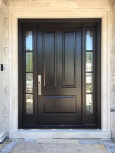 *NEW CONSTRUCTION* Exquisite #custommade #solidmahogany #AmberwoodDoor with rich Brown Mahogany stain; Molten glass; & a slick #Emtek lockset! Call or come into Amberwood\'s outstanding #showroom this #Spring2018 for your beautiful #customdoors 416-213-8007 #AmberwoodDoors proudly ships #worldwide - Call today for shipping details! 1-800-861-3591  #IHaveThisThingWithDoors #DoorsOfDistinction #DoorsOfTheWorld #MadeInCanada #Toronto #Architecture #StyleAtHome #HouseBeautiful #CurbAppeal