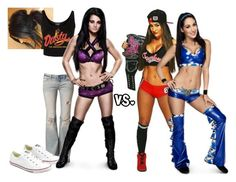 """""""Ringside for Paige VS. Nikki Bella and Brie Bella in a 2-1 Handicape match."""" by jamiehemmings19 ❤ liked on Polyvore featuring Topshop, Free People and Converse"""