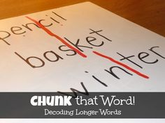 Chunk that Word! Reading Decoding Game - Spell Out Loud {This Reading Mama Guest Post}