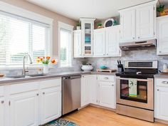 White Kitchen Doors gray and white kitchen dreaming | kitchens, room and gray