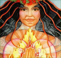 L'Amour de la Nature et le souci de la préserver, d'y vivre de manière harmonieuse sont des constantes dans la pratique wiccane. La Nature est considérée comme étant la puissance divine manifestée. C'est la Terre Mère, réchauffée et animée par les énergies du Soleil, qui est le pôle central de la spiritualité wiccane. Les temples sont les forêts, les sources, la Mer...