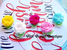 Felt Flower Baby Snap Clips, In Bright Pastel Colors