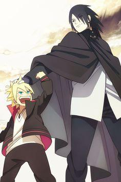 Ouça bem Boruto... Você é um shinobi forte. O ''você'' de verdade... Se quisesse mesmo, um dia... Poderia se tornar até um shinobi que superasse o Naruto... Vai se tornar sim... Com certeza. Porque você é filho dele e eu estou te treinando.   - Sasuke- #NARUTO