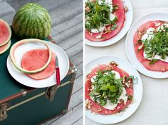 Watermeloen Salade - http://www.volrecepten.nl/r/watermeloen-salade-1021638.html