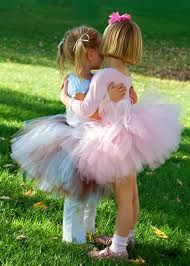 All my little flower girls in tutus and cuteness