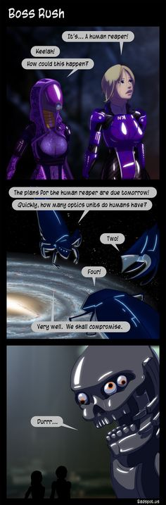 Mass Effect Comic - Boss Rush. The Human Reaper had to ship ...