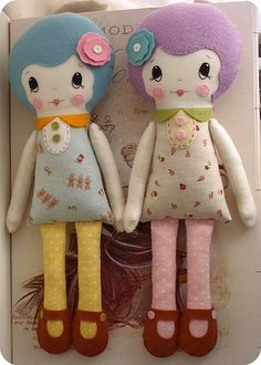 Kiki and Delores   Vintage inspired cloth dolls   Shelly   Flickr