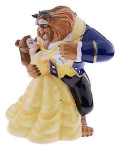 Disney Auctions LE Cookie Jars: Belle and the Beast Cookie Jar Teapot Cookies, Biscuit Cookies, Ceramic Cookie Jar, Cookie Jars, Cookie Containers, Disney Cookies, Disney Kitchen, Disney Figurines, Disney Home Decor