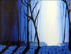Moonlit Landscape Painting. 8th grade