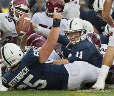 Matt McGloin crosses the goal line for a two-yard touchdown run in the third quarter against Temple at Beaver Stadium.